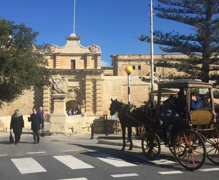 Entrance to the city of Mdina in Malta