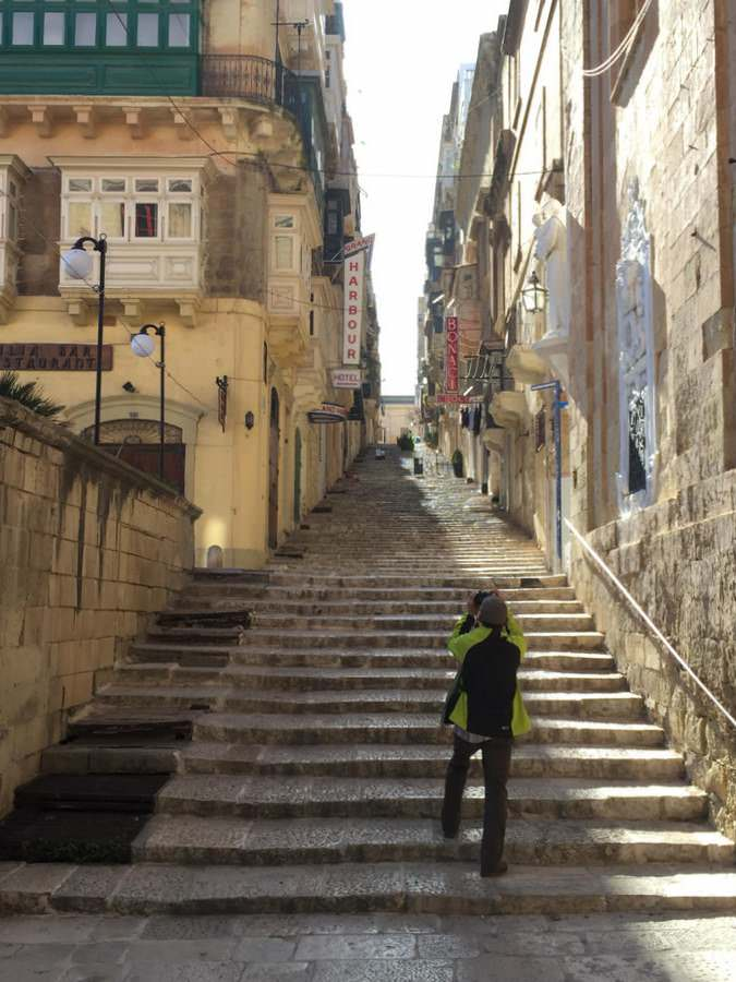 Some streets in Valletta rival those of San Francisco
