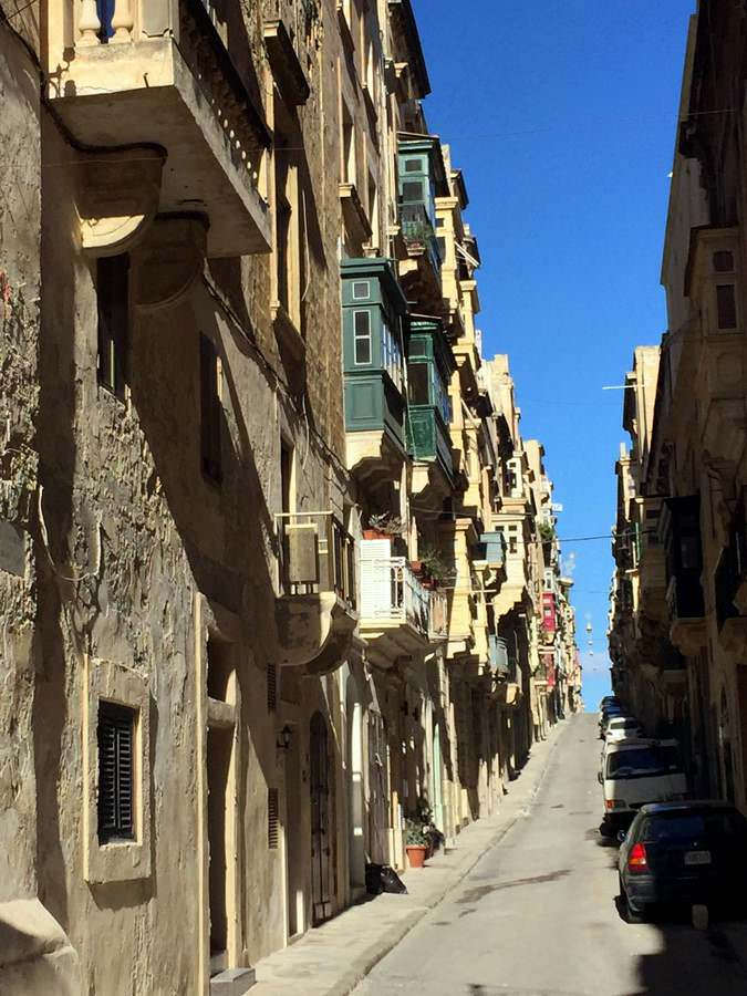 streets in Valletta can be steep and narrow