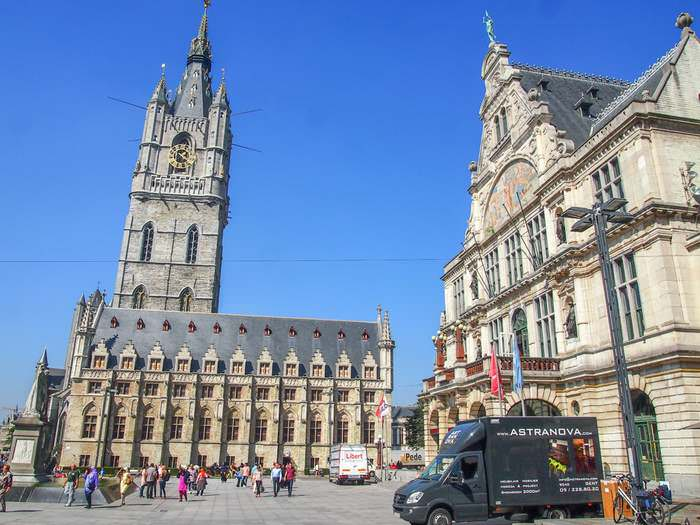The belfry, one of Ghent's three towers