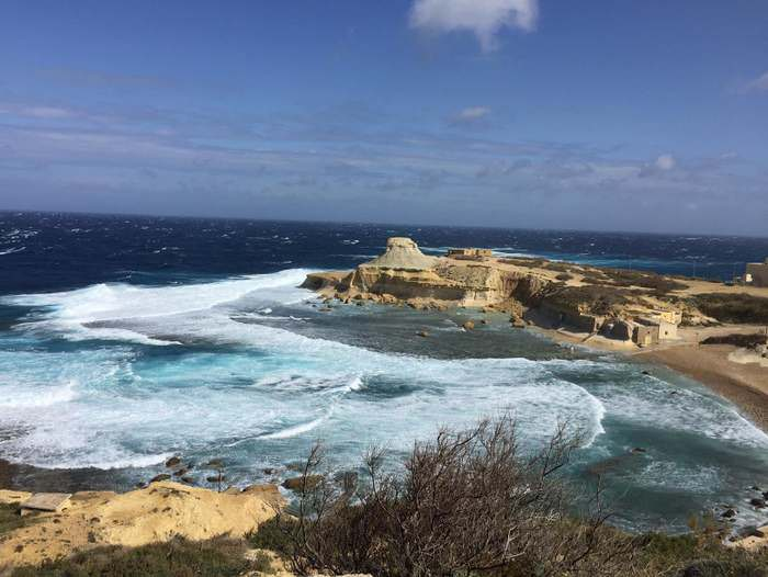 Near Masalforn on Gozo's northeastern coast