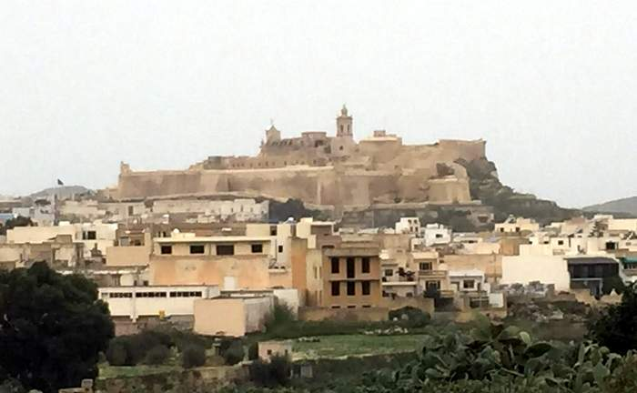The Citadella, dominating Victoria's and Gozo's skyline
