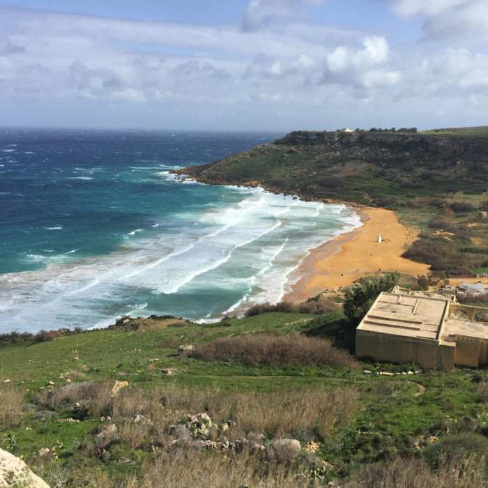 The Red Sandy Beach in Gozo