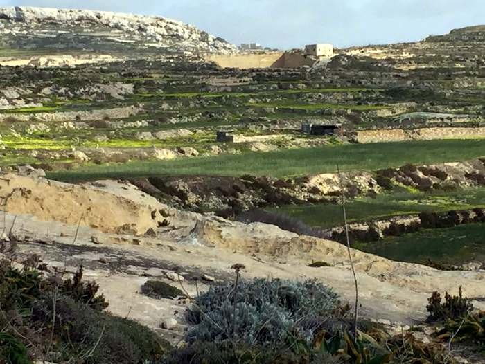 The terraced contours of Dewjra Heritage Park on Gozo