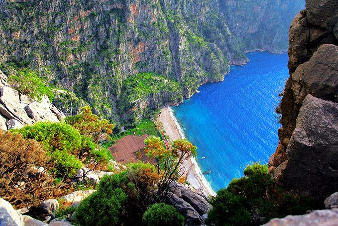 Butterfly Valley in Turkey has one of the best beaches in Europe