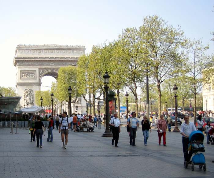 The Champs Elysees is the heart of Paris