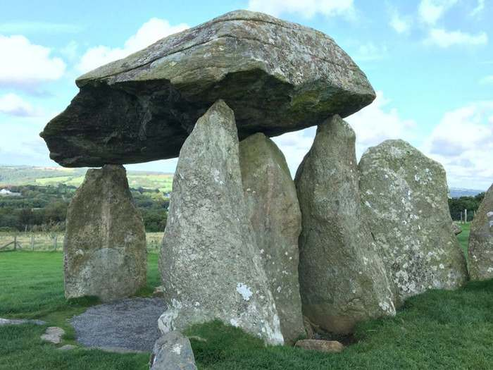 Pentre Ifan has a capstone that rests on the tips of three standing stones