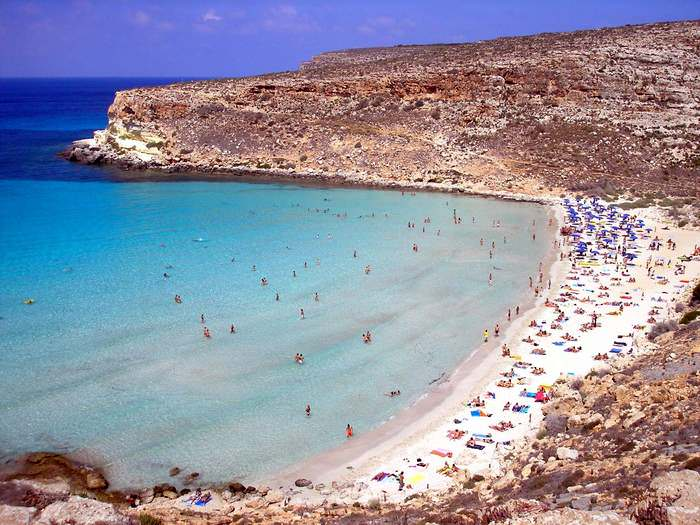 Rabbit Beach in Lampedusa was voted one of the best beaches in Europe