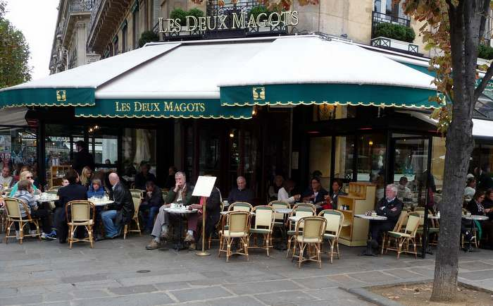 Les Deux Magots, a popular cafe in Paris