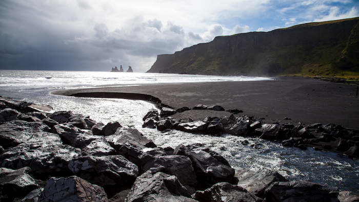 Vik beach in Iceland, on of the best beaches in Europe