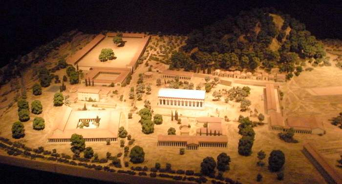 Scale model of the Olympia Games site