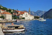 Perast in the Bay of Kotor. Montenegro