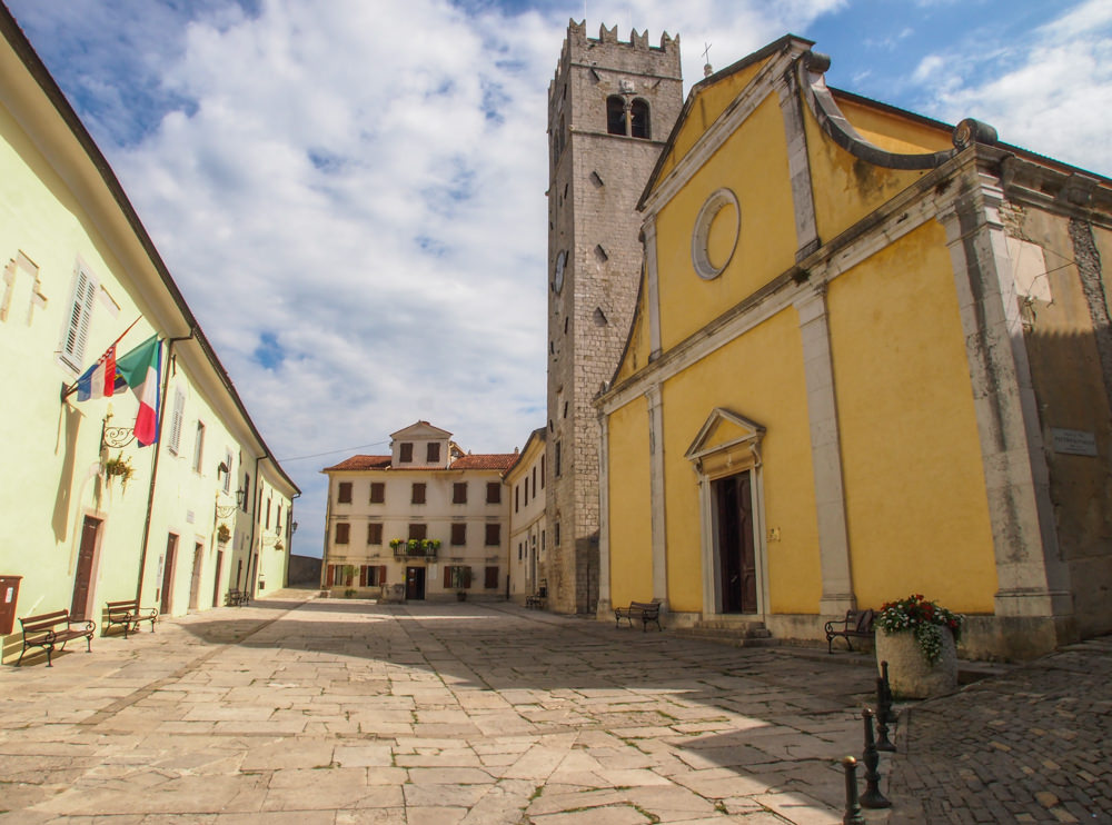 St. Stephen's Church in the Motovun village center in Istria