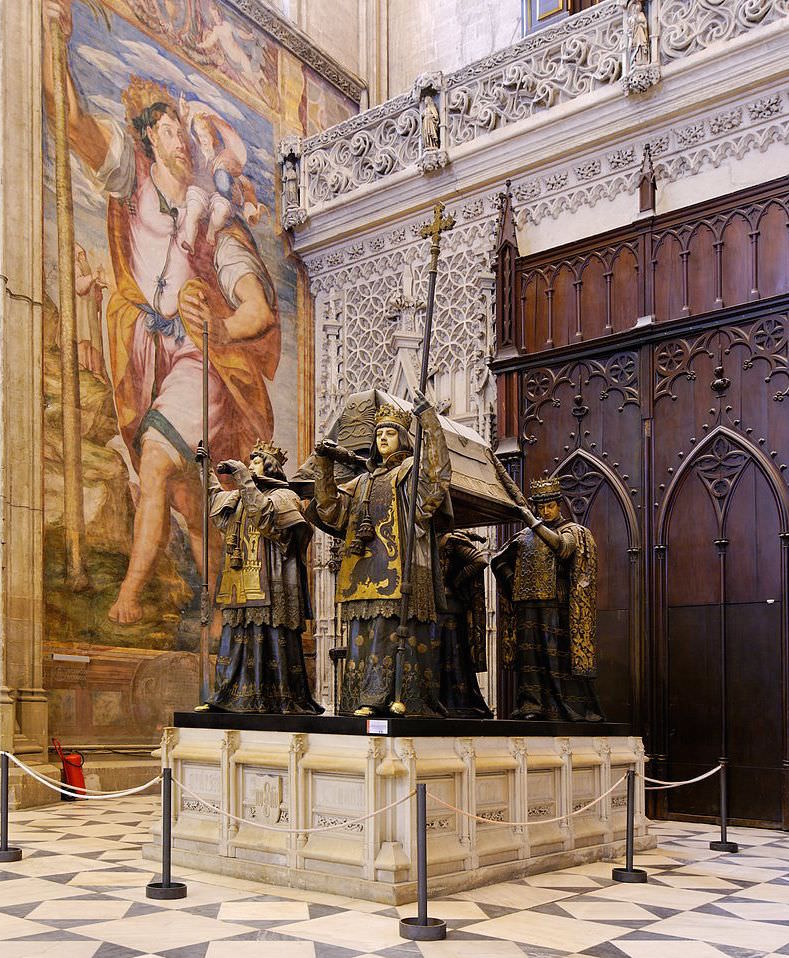 Tomb of Christopher Columbus in the Catedral de Sevilla