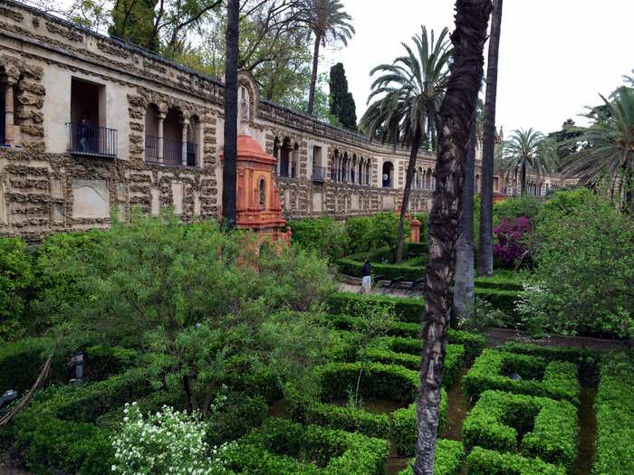 Garden in the Real Alcazar Sevilla