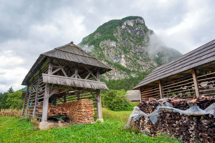 Double hayracks are unique to Bohinj