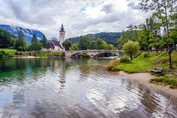 Church of St. John the Baptist in Bohinj