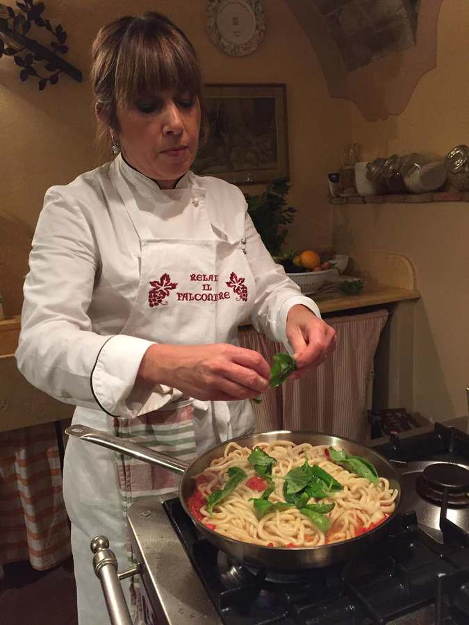 Chef Silvia Baracchi at Il Falconiere