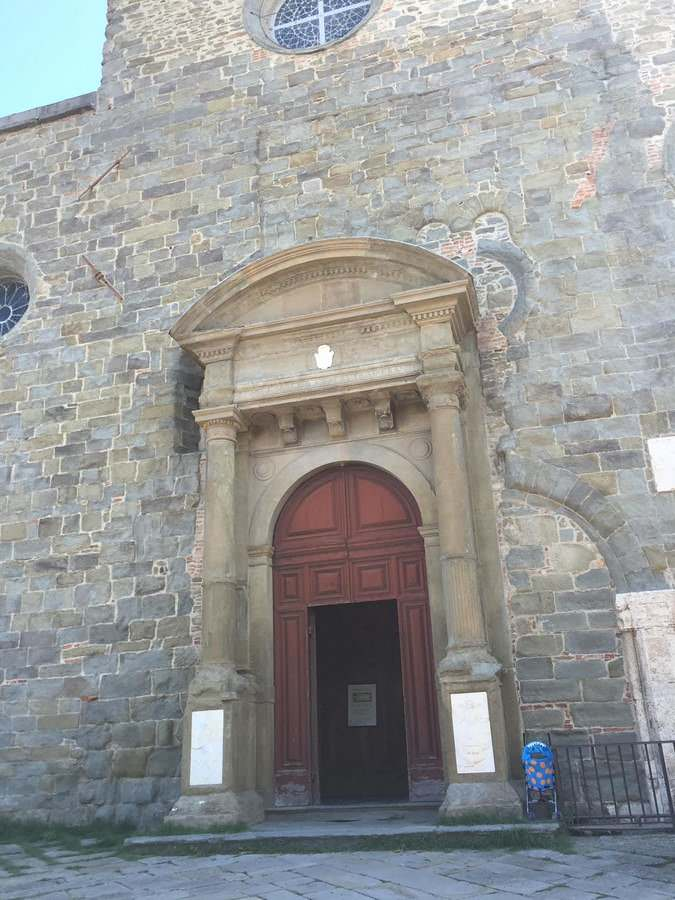 Entrance to the Diocesano Museum in Cortona