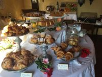 Breakfast featuring the foods of Tuscany