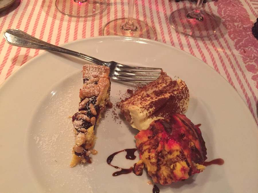 A trio of traditional desserts from the foods of Tuscany
