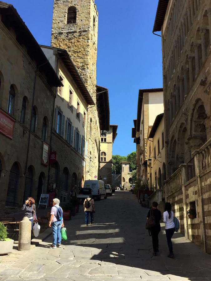 The old town of Arezzo