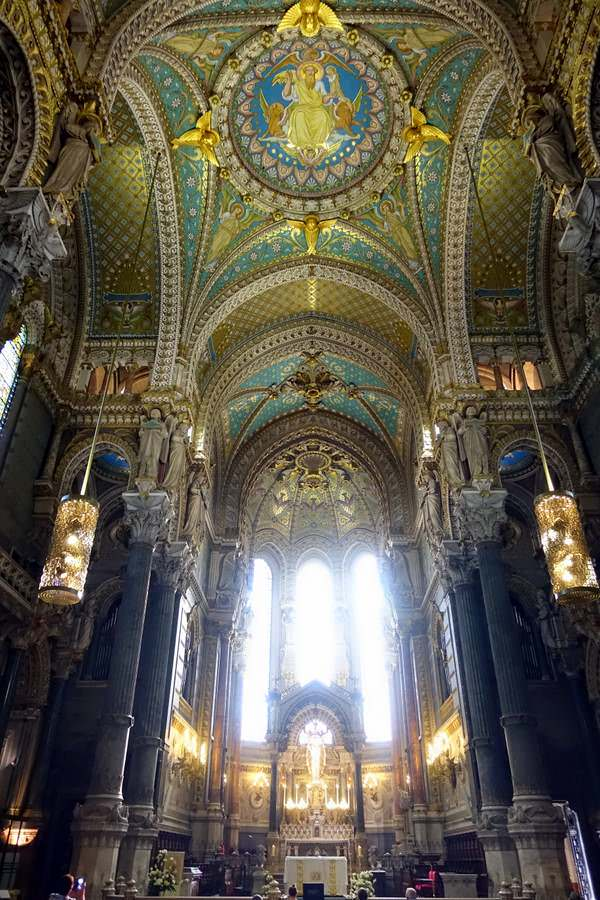 Mosaics and frescos at the basilica de Fourviere in Lyon