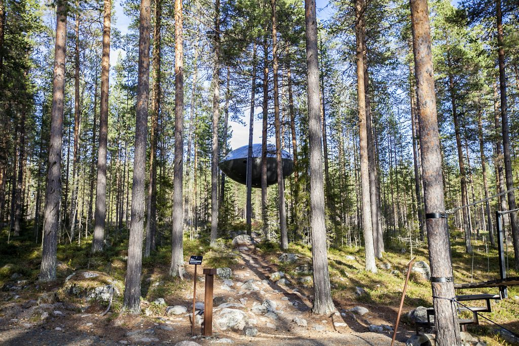 UFO Room at the Tree Hotel in Sweden