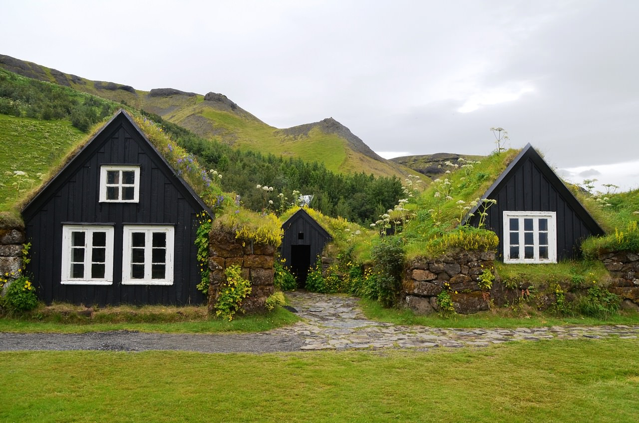 Photos of Iceland - Skogar Grass Roof Huts in Iceland