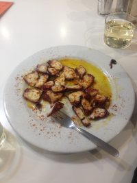 Pulpo a popular tapas choice in Granada - Best Tapas Bars in Granada Spain