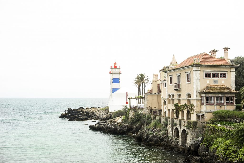 Lighthouse in Cascais on the Portuguese Riviera