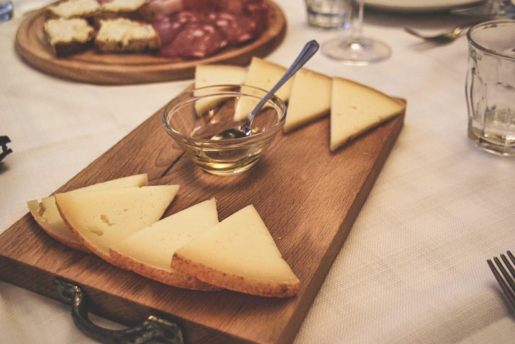 Meat and Cheese Plate at Sovestro in Poggio - Winery in Tuscany Italy
