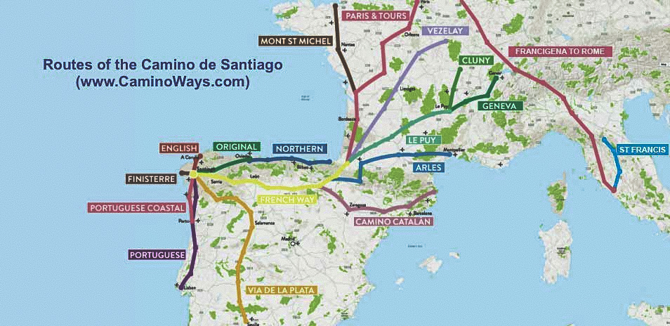 Camino de Santiago: A Journey for the , Mind, and Soul ... on camino santiago map, el camino map, middle ages pilgrimage map, camino trail map, camino pilgrimage map,