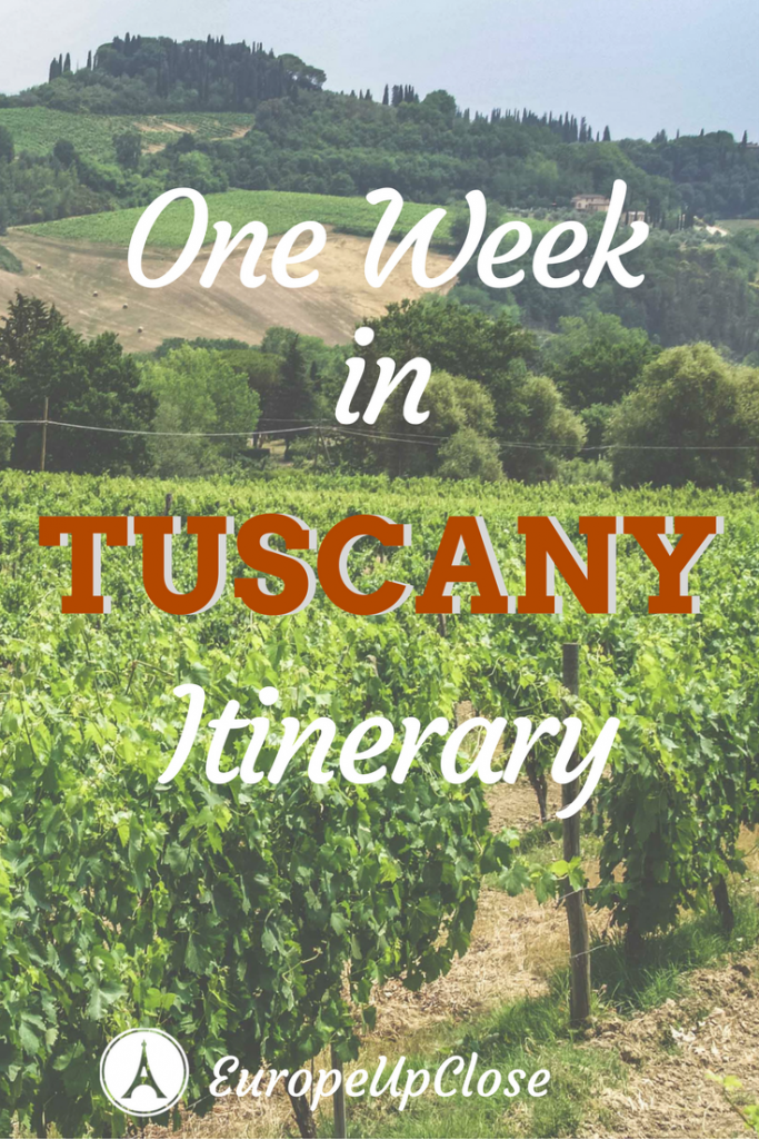 1 week in Tuscany Itinerary Italy: Florence and Tuscan towns, vineyards and beautiful landscapes