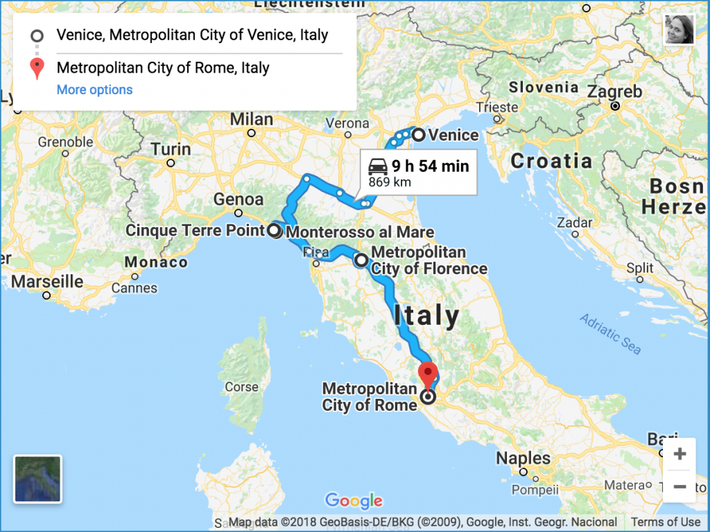 7 day Italy itinerary Road Trip from Venice to Rome in one week