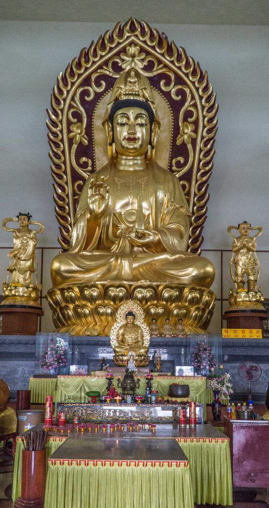 Golden Buddha in Southeast Asia Buddhist Temples in Tanjung Pinang Riau Islands Indonesia - Guan Yin Temple