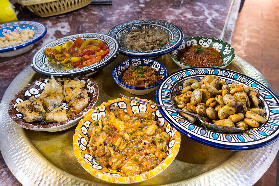 Moroccan Cooking School Fes: Moroccan food tray