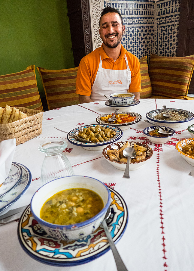 Moroccan Cooking: Harira Soup at Moroccan Cooking School in Fes