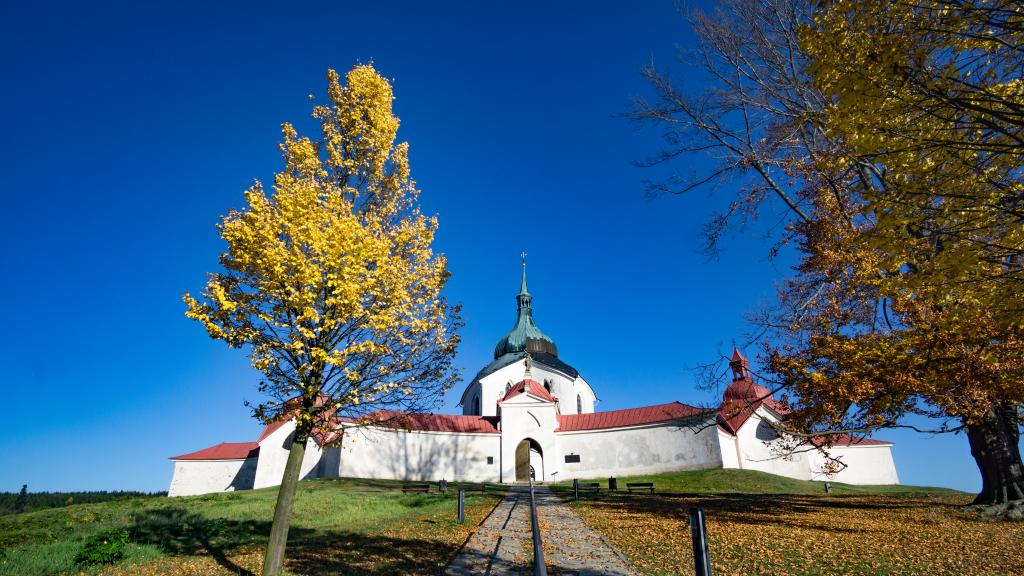 Visit Czech Republic in the Fall - Zelena Hora St John of Nepumuk in Z'dar nad Sazavou