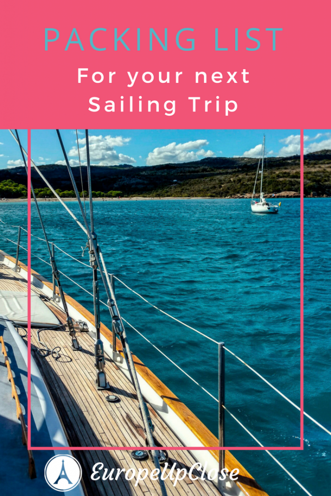 Packing List Sailing Holidays