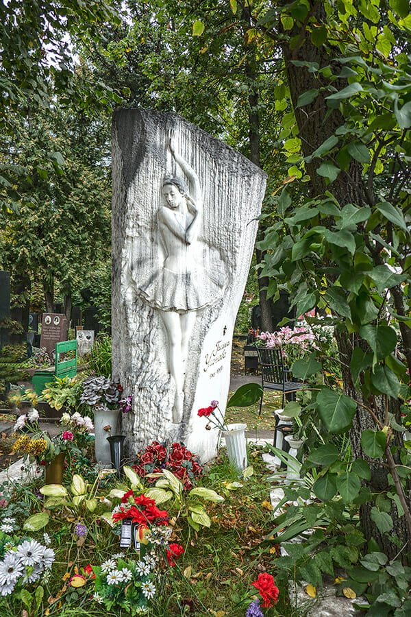 Russian River Cruise from Moscow to St Petersburg - Ballerina Grave in Moscow Russia