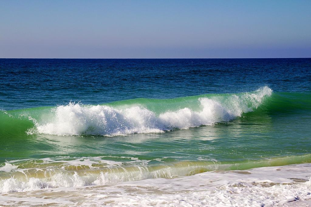 Things to do in Algarve, Portugal - Faro Sea green waves on the Best Beaches in Algarve Portugal