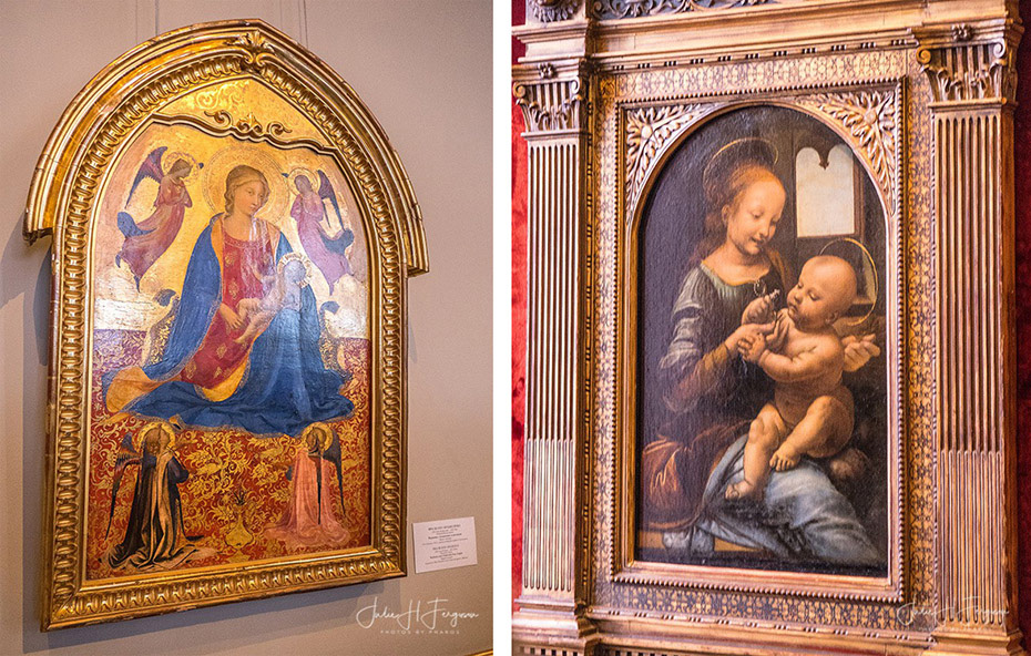 Four rooms in the Old Hermitage are devoted to Early Renaissance art mainly from Florence- Hermitage St. Petersburg Russia