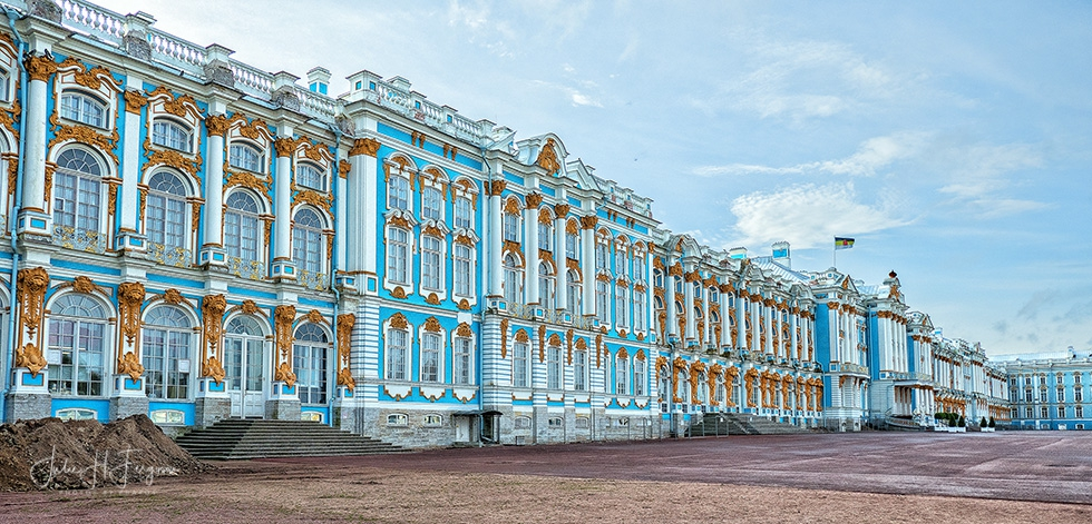 The Catherine Palace at Pushkin near St. Petersburg Russia