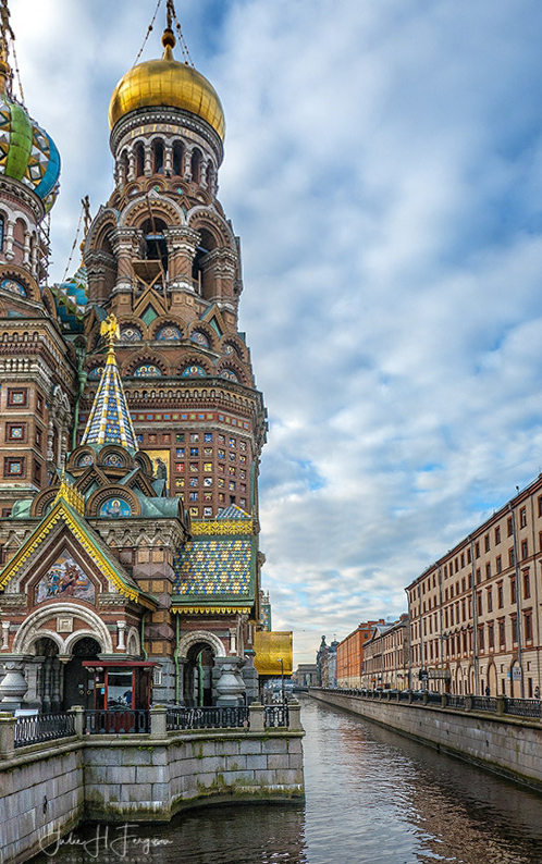 The Church of the Savior on the Spilled Blood in St Petersburg Russia