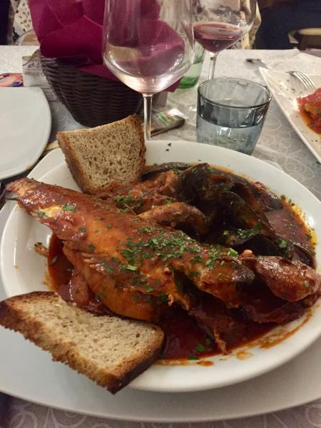 Tuscan Food - Dried Cod in Tomato Sauce with spices