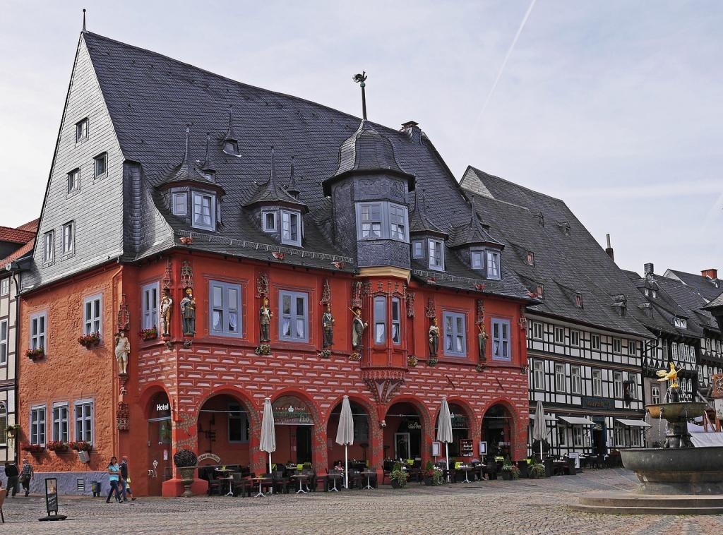 Marketplace in Goslar Germany - Harz Mountains