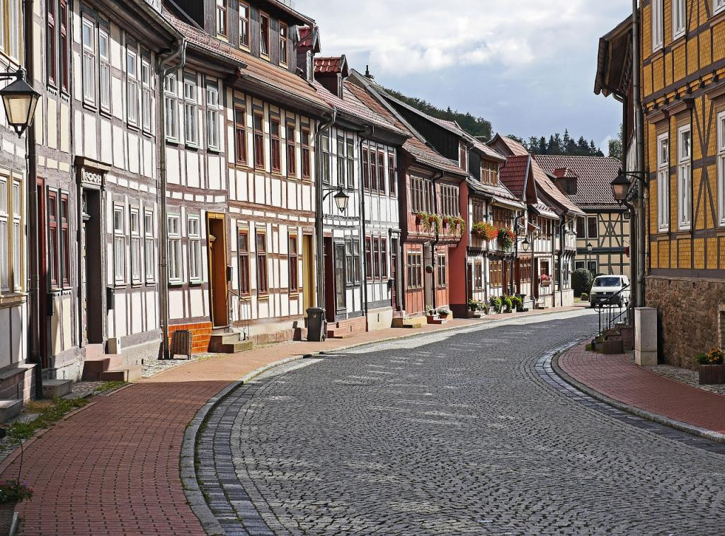 Half-timbered houses in Stolberg Germany - Harz Mountains