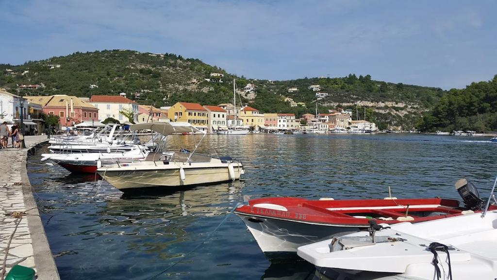 Gaios Harbor on Paxos Island in Greece