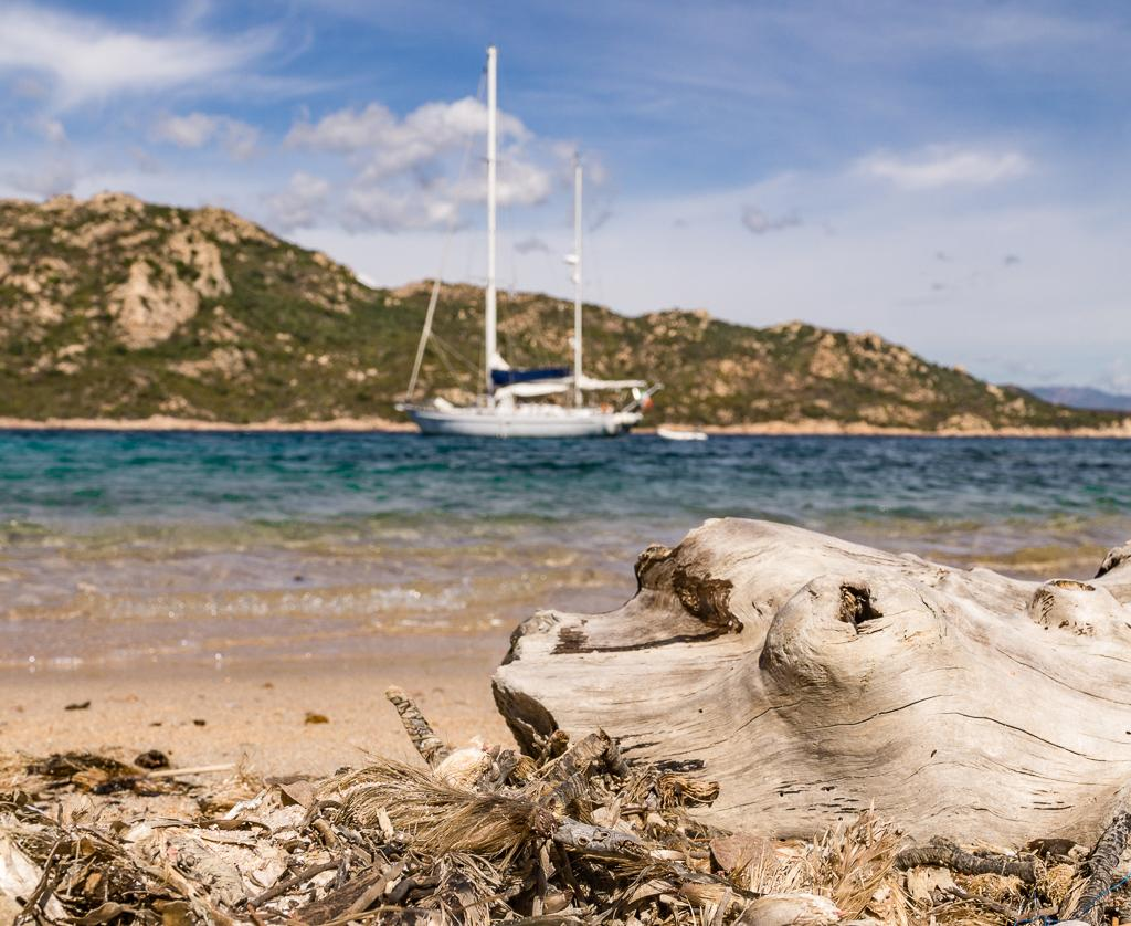 Mediterranean Cruise without the crowds? Deserted beach in Corsica with Intersailclub sailboat charter